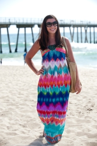 Katelyn Shlensky wearing Kohls at Hermosa Beach