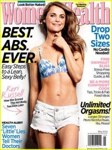 Keri Russell May Women's Health Magazine