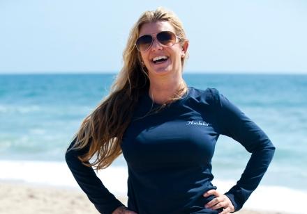 Kim Ryan at the Beach