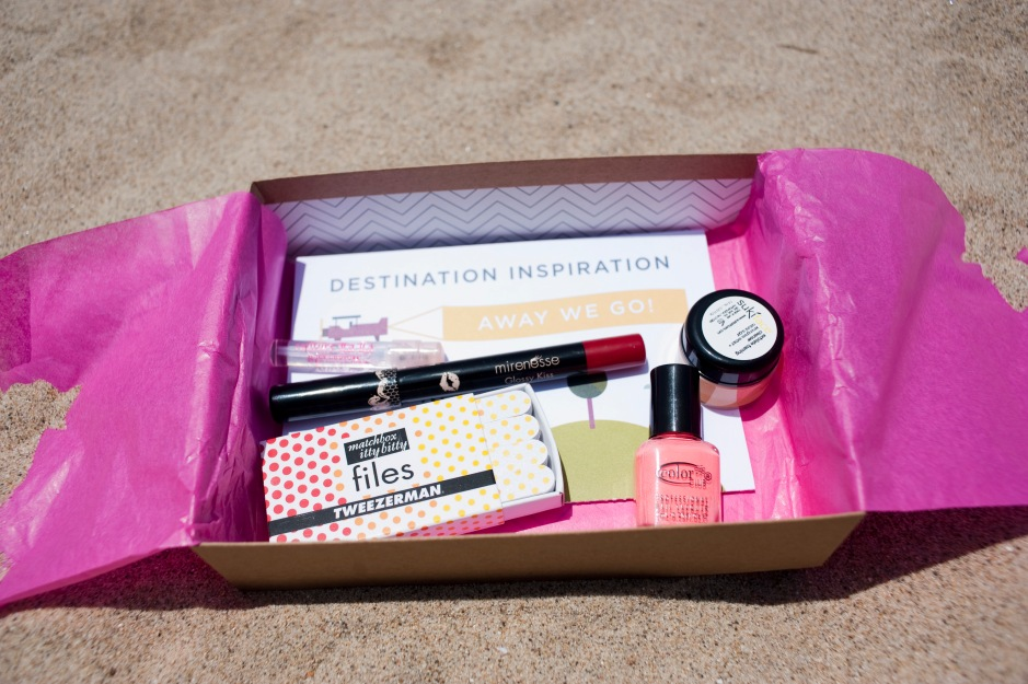 "This month's Birchbox theme was, ""Away we go!"""