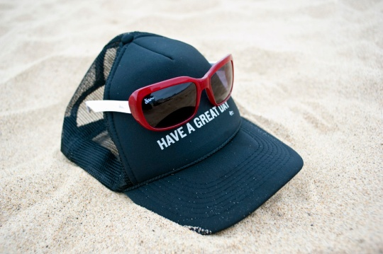 Enter to win a pair of dizm Mary Jane sunglasses and a 'Have a Great Day' hat. Winners announced August 4