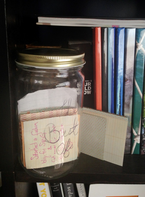Mason jar mini-memory journal