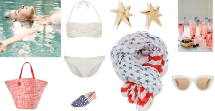 Fourth of July Pool Party Looks