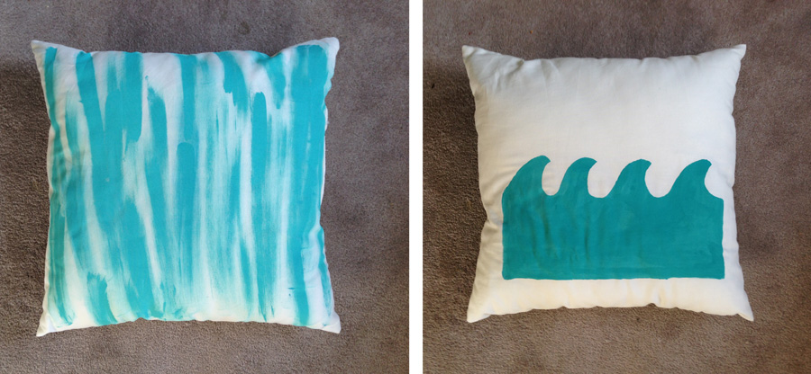 DIY wedding pillows personalized