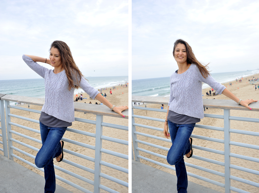 Tatyana at the Hermosa Beach pier