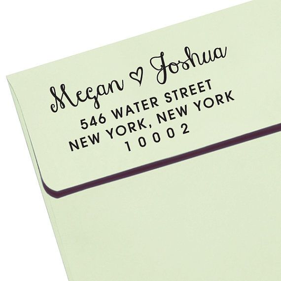Customize a stamp for invitations and thank you cards etsy.com