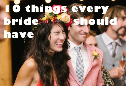 10 things every bride should have