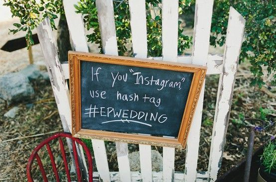 Help your guests hashtag http://www.intimateweddings.com