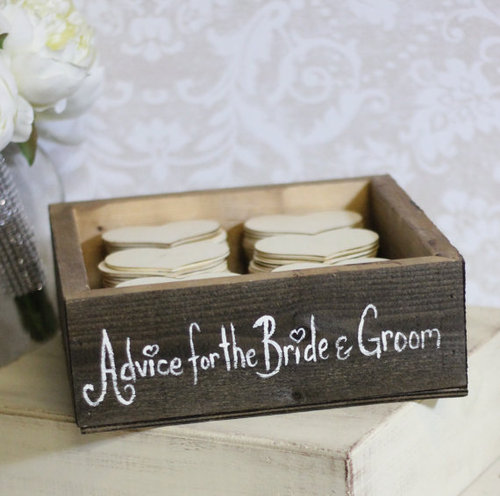 Advice Box for the Bride and Groom http://t-fairygodmotherofweddings.tumblr.com