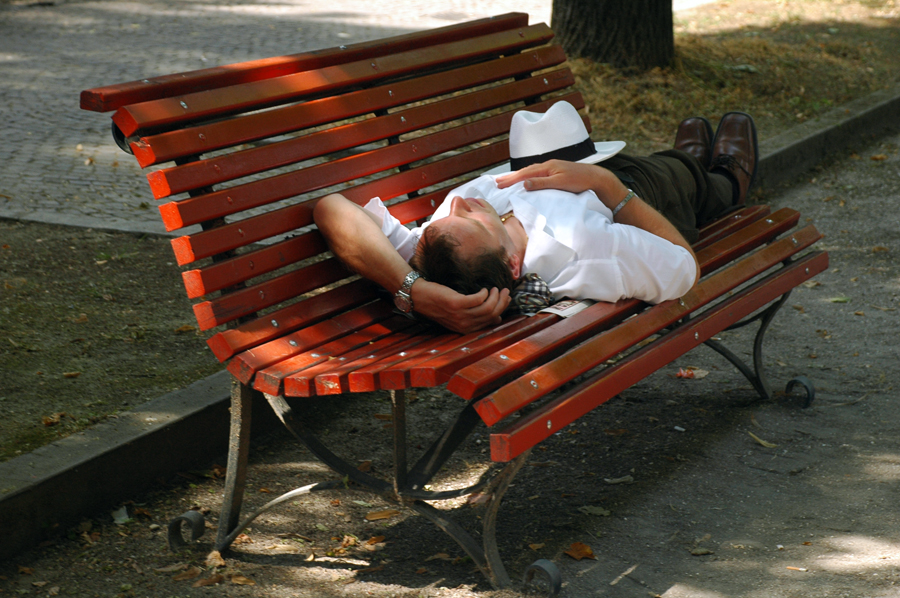 Resting in Venice
