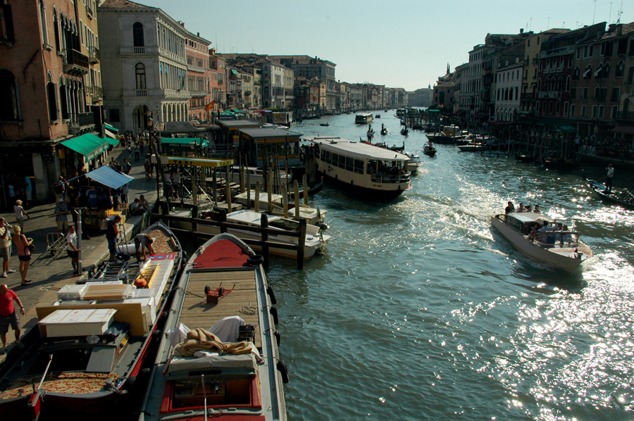 Busy Venice Grand Canal