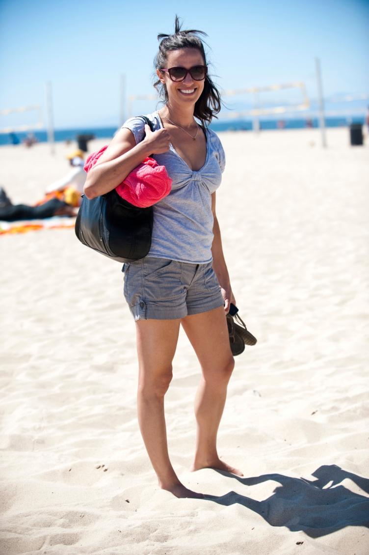 Michelle England on Hermosa Beach