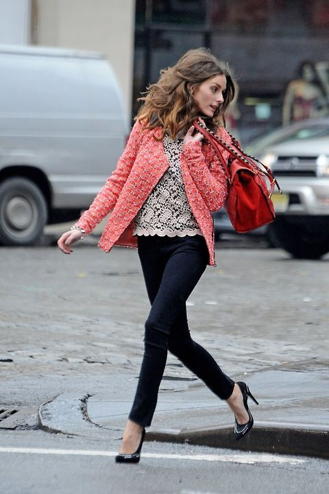Her hair's even perfect when she's jumping over puddles! (or a curb?)