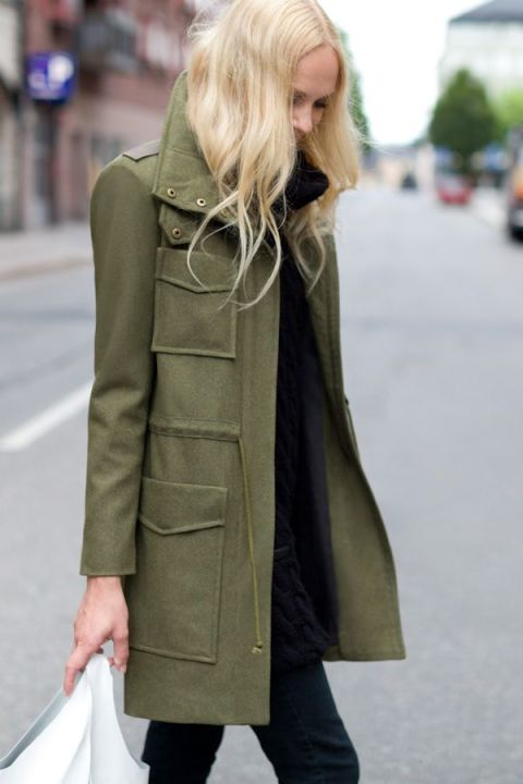 A perfectly tailored green military jacket ($545)