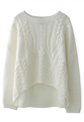 A comfy cable knit sweater ($49)