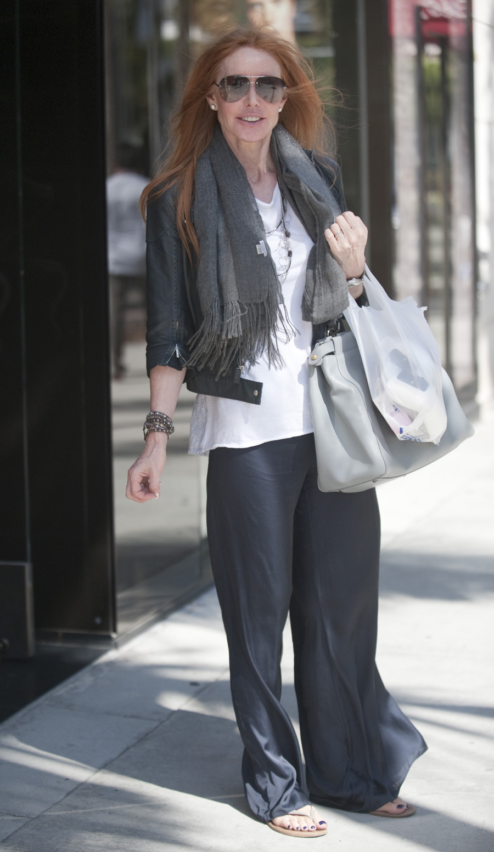 Andrea Cwombs, with a Fendi handbag.
