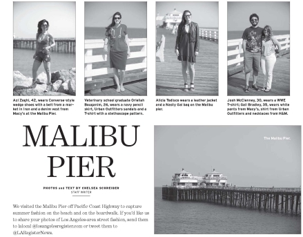 Malibu Pier featured in the Los Angeles Register