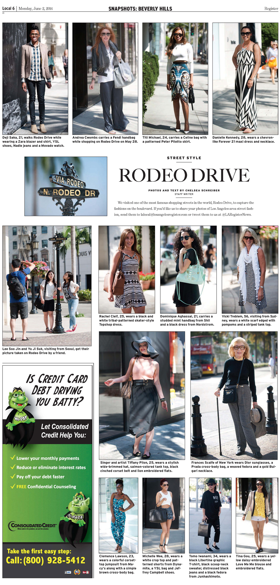 June 2 Los Angeles Register - Local section - Street Style on Rodeo Drive