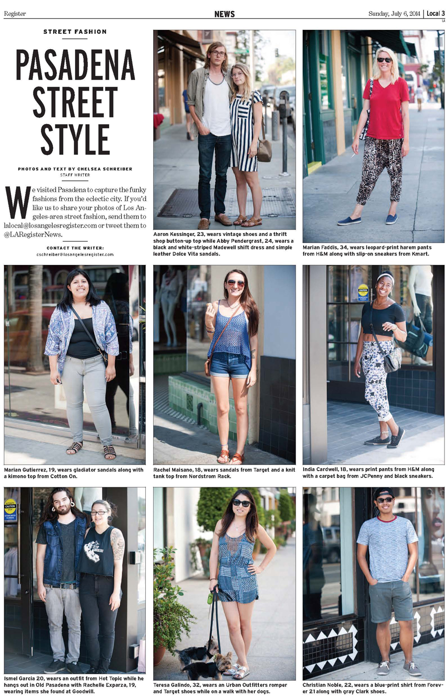 Los Angeles Register Street Style in Pasadena