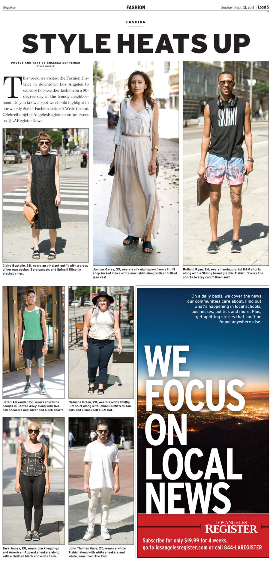 The final Strand Style street style to be featured in the Los Angeles Register