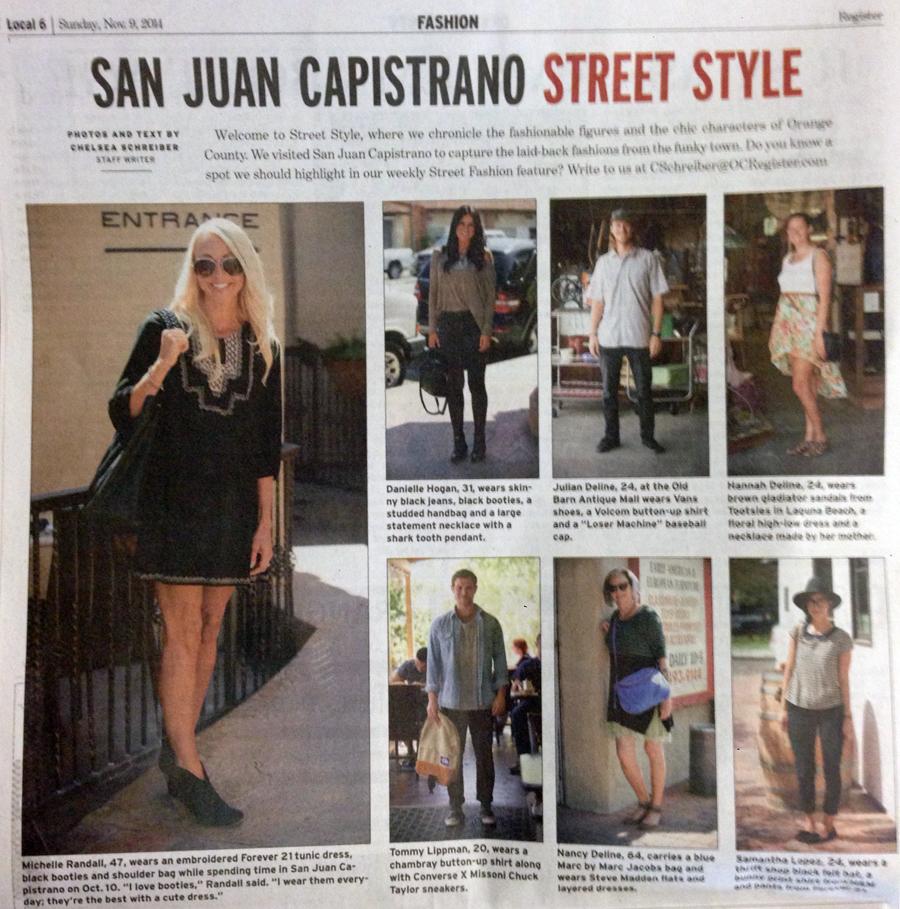 San Juan Capistrano street style.