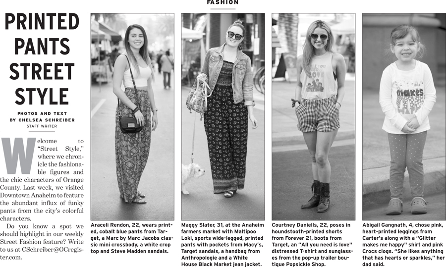 Orange County Register, Street Style, OOTD