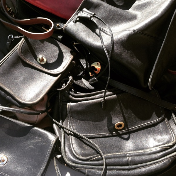 Stacks of vintage purses can be found the second Sunday of every month at the Rose Bowl Flea Market.