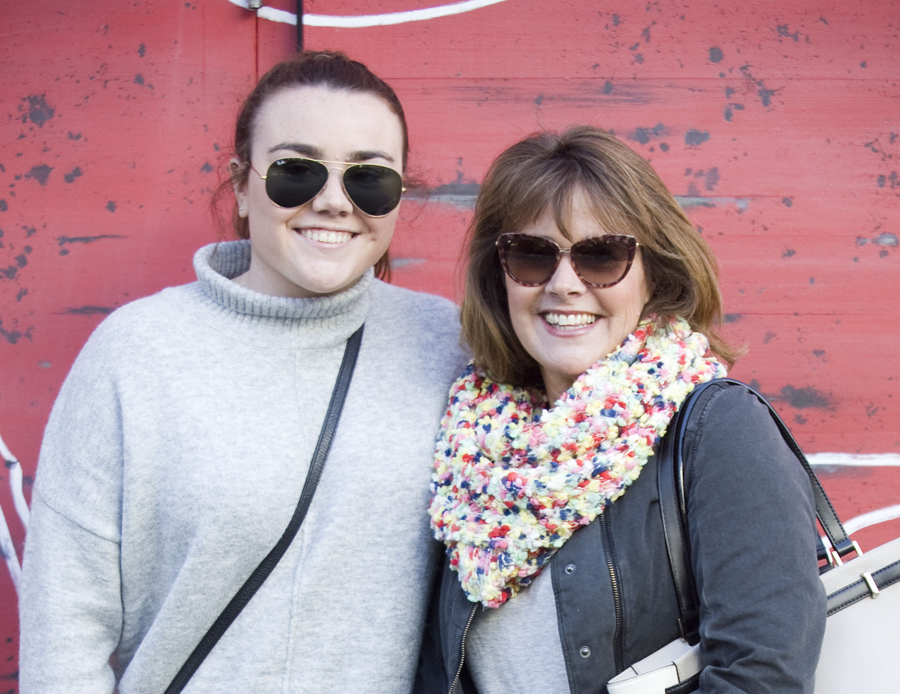 Taylor Rhoades, 19, was photographed with Amy Rhoades, 51, at Pacific City in Huntington Beach on Dec. 30.